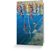 Wibbly Wobbly Flagpole Reflections Greeting Card