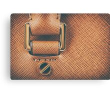 Brown Leather Woman Bag Closeup Canvas Print