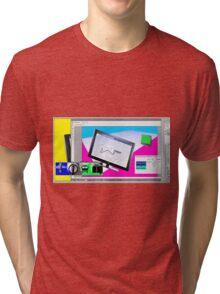 Screen Wingdings Tri-blend T-Shirt
