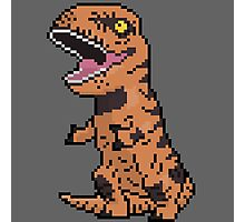 Pixely T-Rex Photographic Print