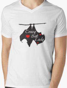 Crazy Bat Lady Mens V-Neck T-Shirt