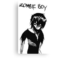 Zombie Boy Collection Canvas Print