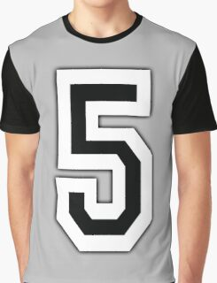 5, TEAM SPORTS, NUMBER 5, FIFTH, FIVE, Competition, Graphic T-Shirt