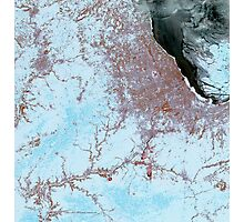 Chicago Illinois Winter Satellite Image Photographic Print