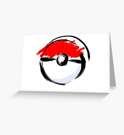 Pokemon Pokeball Greeting Card