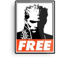 Vergil Free Obey Design Metal Print