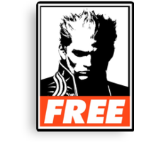 Vergil Free Obey Design Canvas Print