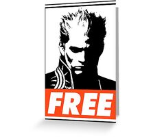 Vergil Free Obey Design Greeting Card