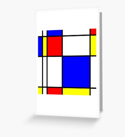 Piet Mondrian-Inspired 1 Greeting Card