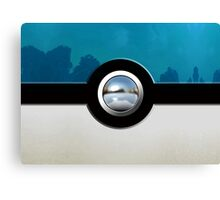 Blue Pokeball Canvas Print