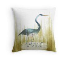 Blue Heron 2 Throw Pillow