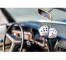 Classic Car & Furry Dice Photographic Print