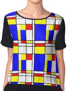 Piet Mondrian-Inspired 2 Chiffon Top