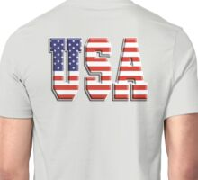 American Flag, USA, Stars & Stripes, America, Americana, Pure & Simple, on BLACK Unisex T-Shirt