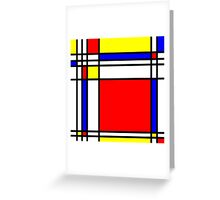 Piet Mondrian-Inspired 3 Greeting Card