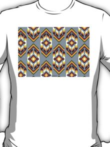 Native American Design Bead Pattern SMOKE T-Shirt