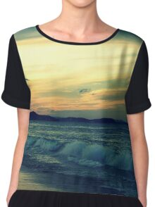 sunset on the gold coast Chiffon Top