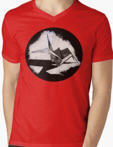 Scratch Crane Mens V-Neck T-Shirt