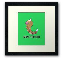 Weedle Make you high - funny pokemon go Framed Print