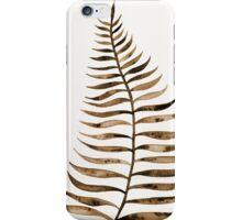 Palm Leaf – Sepia iPhone Case/Skin