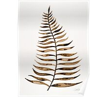 Palm Leaf – Sepia Poster