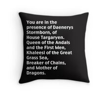 Mother of Dragons. Throw Pillow