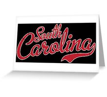 South Carolina Script Garnet VINTAGE Greeting Card