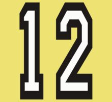 12, TEAM SPORTS, NUMBER 12, twelfth, twelve, ONE, TWO, Competition,  One Piece - Short Sleeve