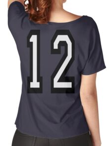 12, TEAM SPORTS, NUMBER 12, twelfth, twelve, ONE, TWO, Competition,  Women's Relaxed Fit T-Shirt