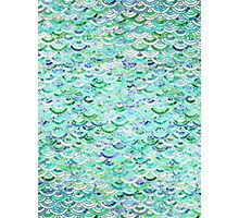 Marble Mosaic in Mint Quartz and Jade Photographic Print