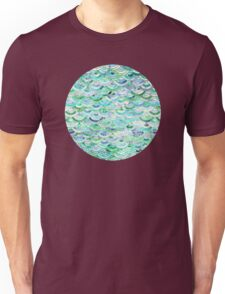 Marble Mosaic in Mint Quartz and Jade Unisex T-Shirt