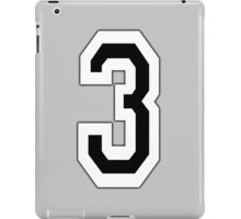 3, TEAM, SPORTS, NUMBER 3, THREE, THIRD, Competition iPad Case/Skin