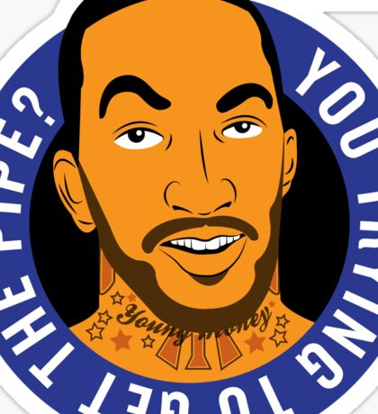 "JR Smith - ""you trying to get the pipe"" @theknickswall Sticker"