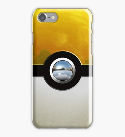 yellow pokeball iPhone Case/Skin