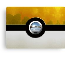 yellow pokeball Canvas Print