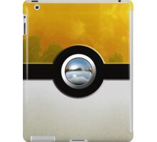 yellow pokeball iPad Case/Skin