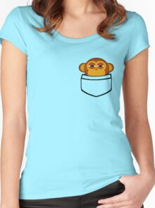 Pocket monkey Women's Fitted Scoop T-Shirt
