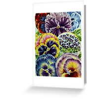 Floral Pansy Greeting Card