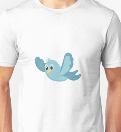 Cartoon Blue Bird Unisex T-Shirt