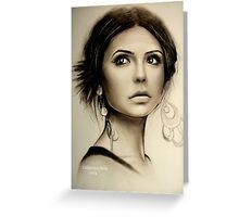 Nina Dobrev  Greeting Card