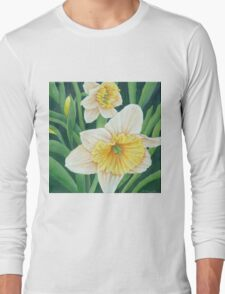 Spring Daffodils Painting Long Sleeve T-Shirt