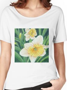 Spring Daffodils Painting Women's Relaxed Fit T-Shirt