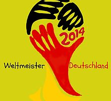 FIFA World Cup Champion  Deutschland Glückwunsch by JoAnnFineArt
