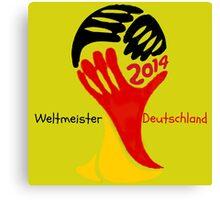 FIFA World Cup Champion  Deutschland Glückwunsch Canvas Print
