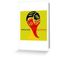 FIFA World Cup Champion  Deutschland Glückwunsch Greeting Card