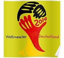 FIFA World Cup Champion  Deutschland Glückwunsch Poster