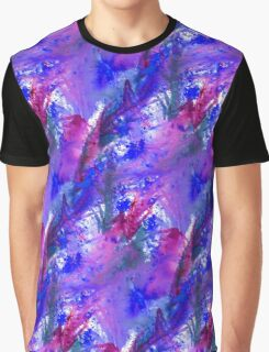 Purple Saturation Palm Leaves Graphic T-Shirt