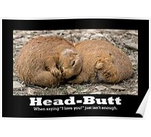 Prairie Dog Head-Butt Poster