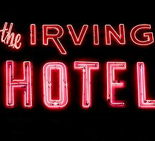 The Irving Hotel in Lights by Kadwell