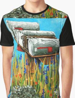 Rural Water Cooler Mail Mailbox Wildflowers Beautiful Country Graphic T-Shirt